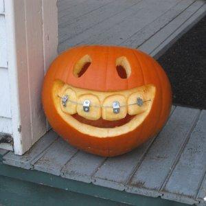 Simpatica zucca di Halloween
