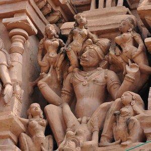 Strane statue in India