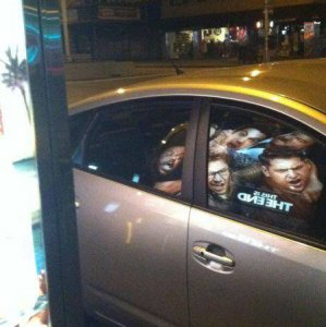 Strani riflessi sull'auto
