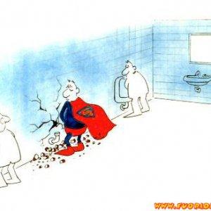 Superman in bagno