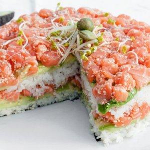 Una torta di sushi