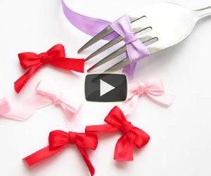 Ecco come realizzare dei bei fiocchetti con una forchetta