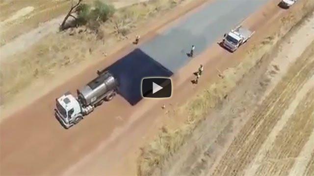Ecco come vengono asfaltate le strade in Australia