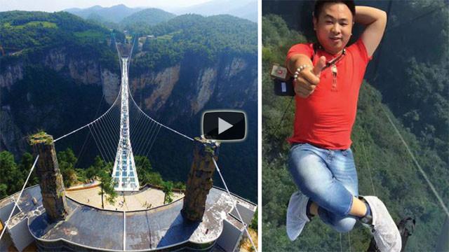 Ecco il ponte di vetro più lungo e alto al mondo. Da brividi!