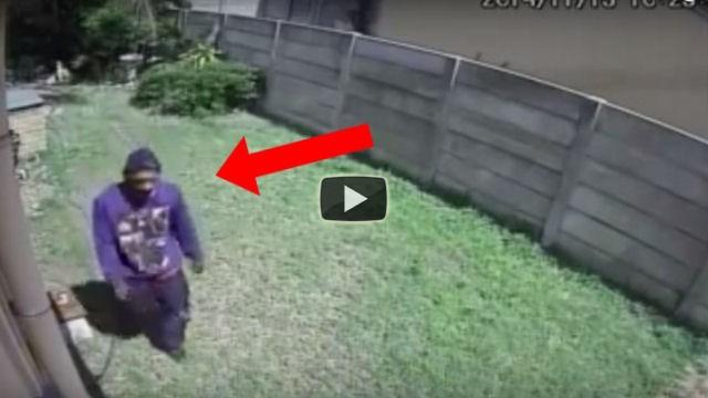Un ladro cerca di entrare in casa ma qualcuno gli fa cambiare idea